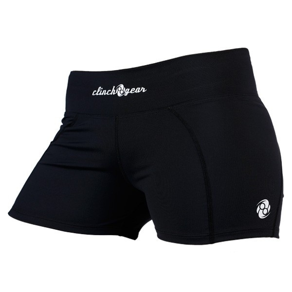 Clinch Gear Women's Compression Shorts in Black Available at The Jiu Jitsu Shop.    Enjoy Free Shipping from The Jiu Jitsu Shop today!