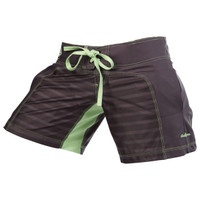 Clinch Gear Womens Spectrum Hazard Short- Grey now available at www.thejiujitsushop.com  Enjoy Free Shipping at The Jiu Jitsu Shop.  Stylish comfortable shorts for women.