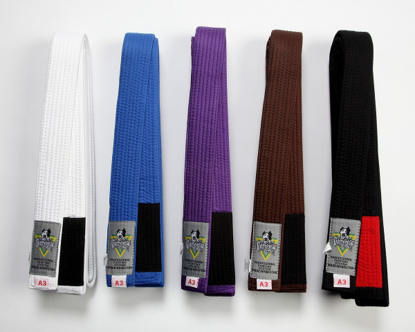 Brand new Gameness Belts in White, Blue, Purple, Brown and Black
