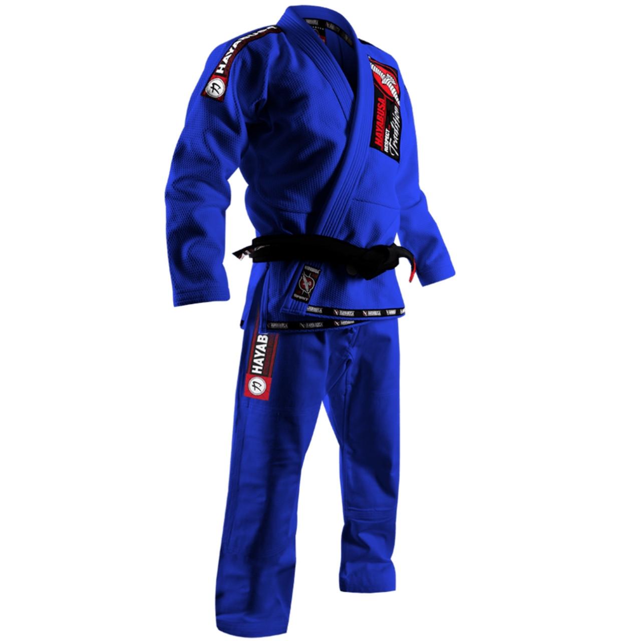 Hayabusa Goorudo Gold Weave Jiu Jitsu Gi Blue @ The Jiu Jitsu Shop