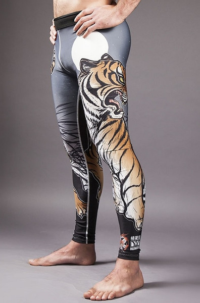 Meerkatsu Midnight Tiger Grappling Tights @ The Jiu Jitsu Shop