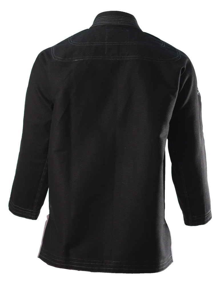 Inverted Gear Black Panda 2.0 Jiu Jitsu Gi Jacket back view @ www.thejiujitsushop.com Light comforable durable BJJ Kimono