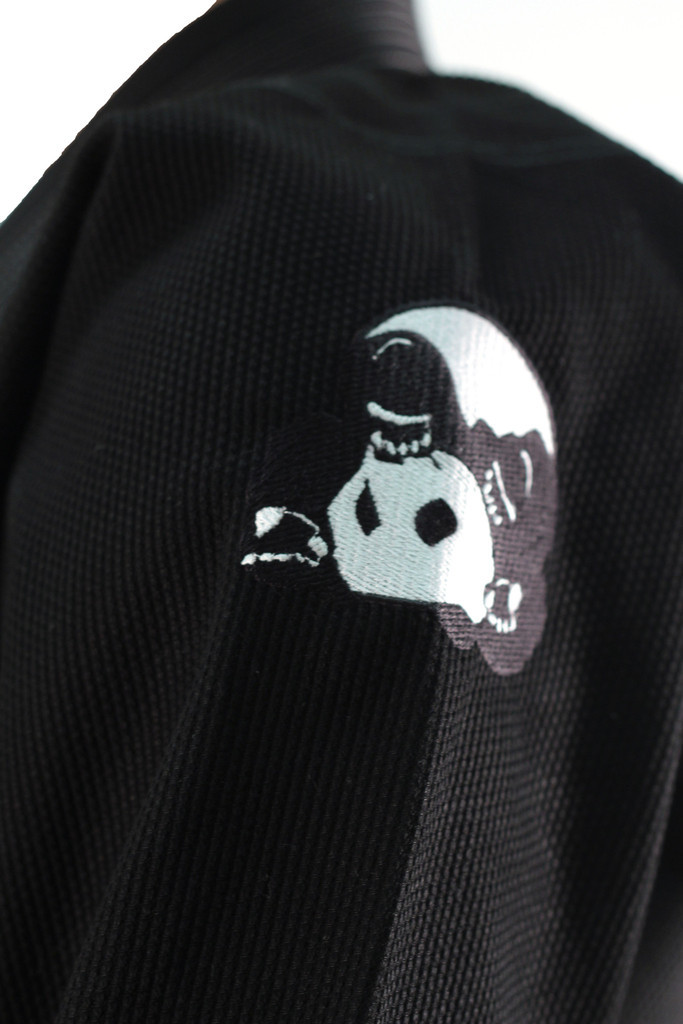 Inverted Gear Black Panda 2.0 Jiu Jitsu Gi shoulder Inverted Panda Embroidered logo @ www.thejiujitsushop.com Light comforable durable BJJ Kimono
