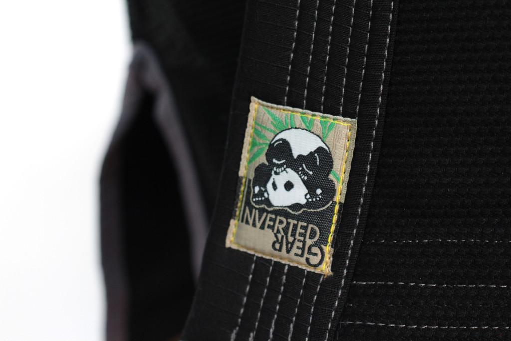Inverted Gear Black Panda 2.0 Jiu Jitsu Gi lapel label @ www.thejiujitsushop.com