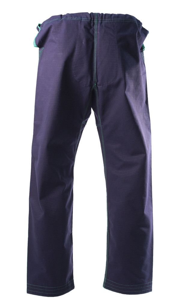 Inverted Gear Navy Blue Bamboo Jiu Jitsu Gi Pants back view @ www.thejiujitsushop.com