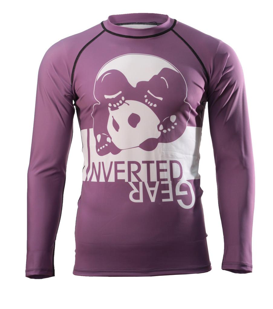 Inverted Gear Purple Long Sleeve Ranked Rashguard @ www.thejiujitsushop.com - Top BJJ gear for an evolving Jiu Jitsu Community