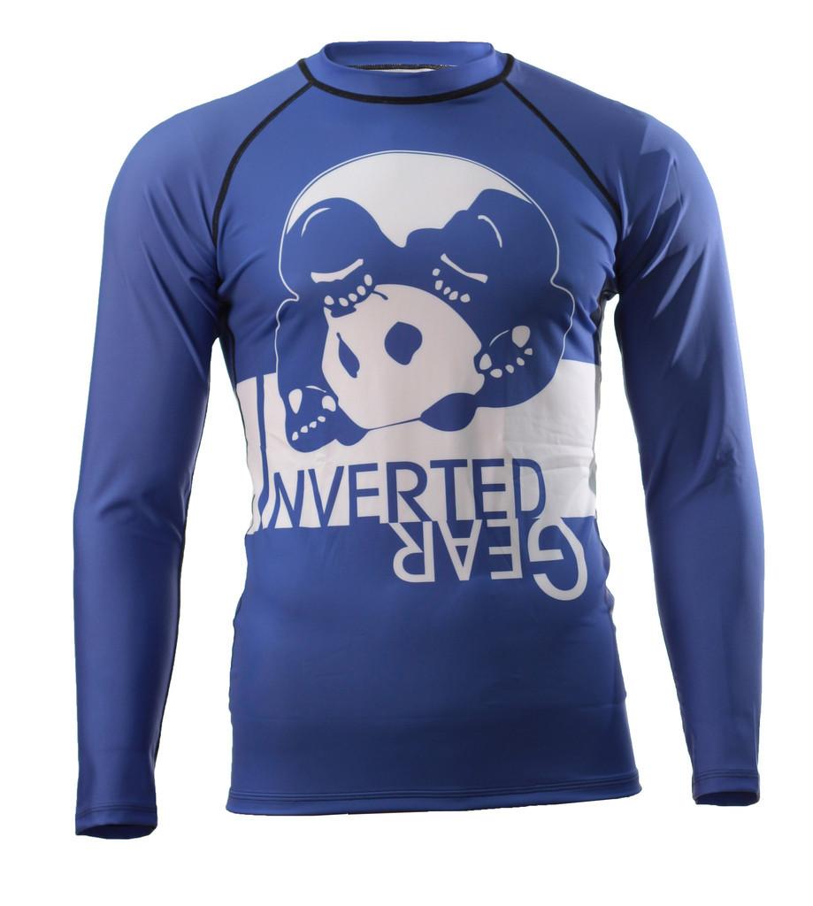 Inverted Gear Blue Long Sleeve Ranked Rashguard @ www.thejiujitsushop.com - Top BJJ gear for an evolving Jiu Jitsu Community