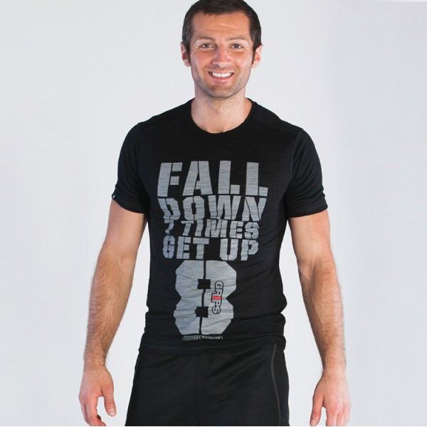 Grips Athletics Men's Get Up T-Shirt Black @ The Jiu Jitsu Shop.  www.thejiujitsushop.com