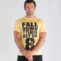 Grips Athletics Men's Get Up T-Shirt Yellow @ The Jiu Jitsu Shop.  www.thejiujitsushop.com