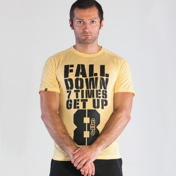 Grips Athletics Men's Get Up T-Shirt Yellow @ The Jiu Jitsu Shop.  www.thejiujitsushop.com