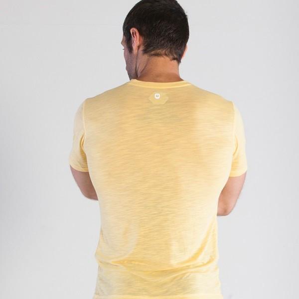 Grips Athletics Men's Get Up T-Shirt Yellow back @ The Jiu Jitsu Shop.  www.thejiujitsushop.com