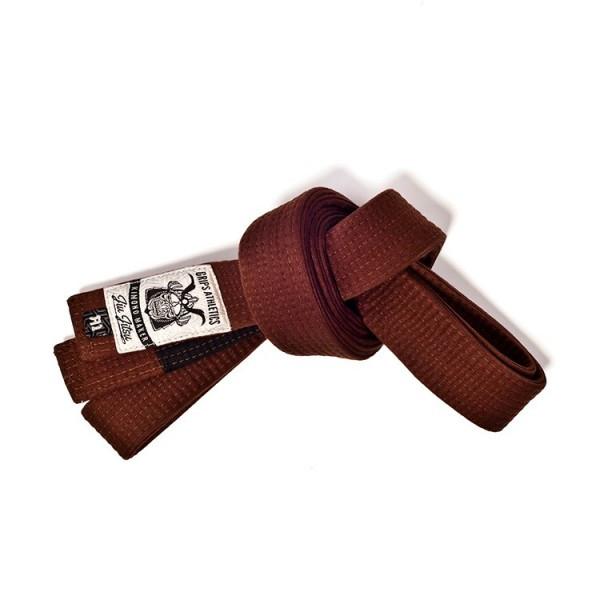 Grips Athletics Brown Jiu Jitsu Belt @ www.thejiujitsushop.com.  Super soft and durable belt that you will love and be proud of.