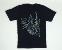 Black OGA calm Koi Fish Jiu Jitsu Tshirt @ www.thejiujitsushop.com  Open Guard Apparel Koi Fish Tshirt