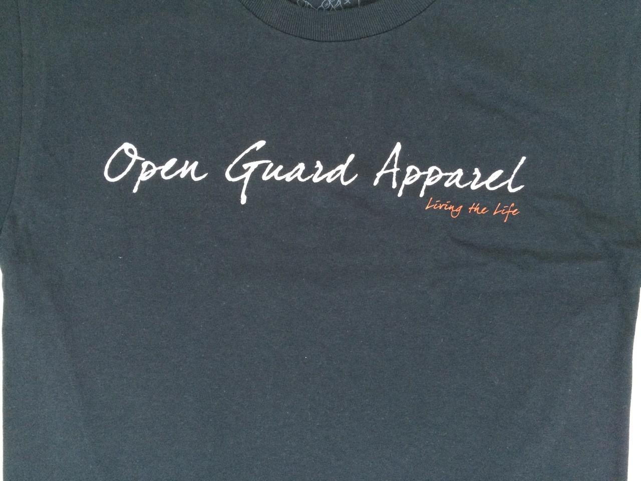 Black open guard apparel Shaka Shirt Zoom in at www.thejiujitsushop.com