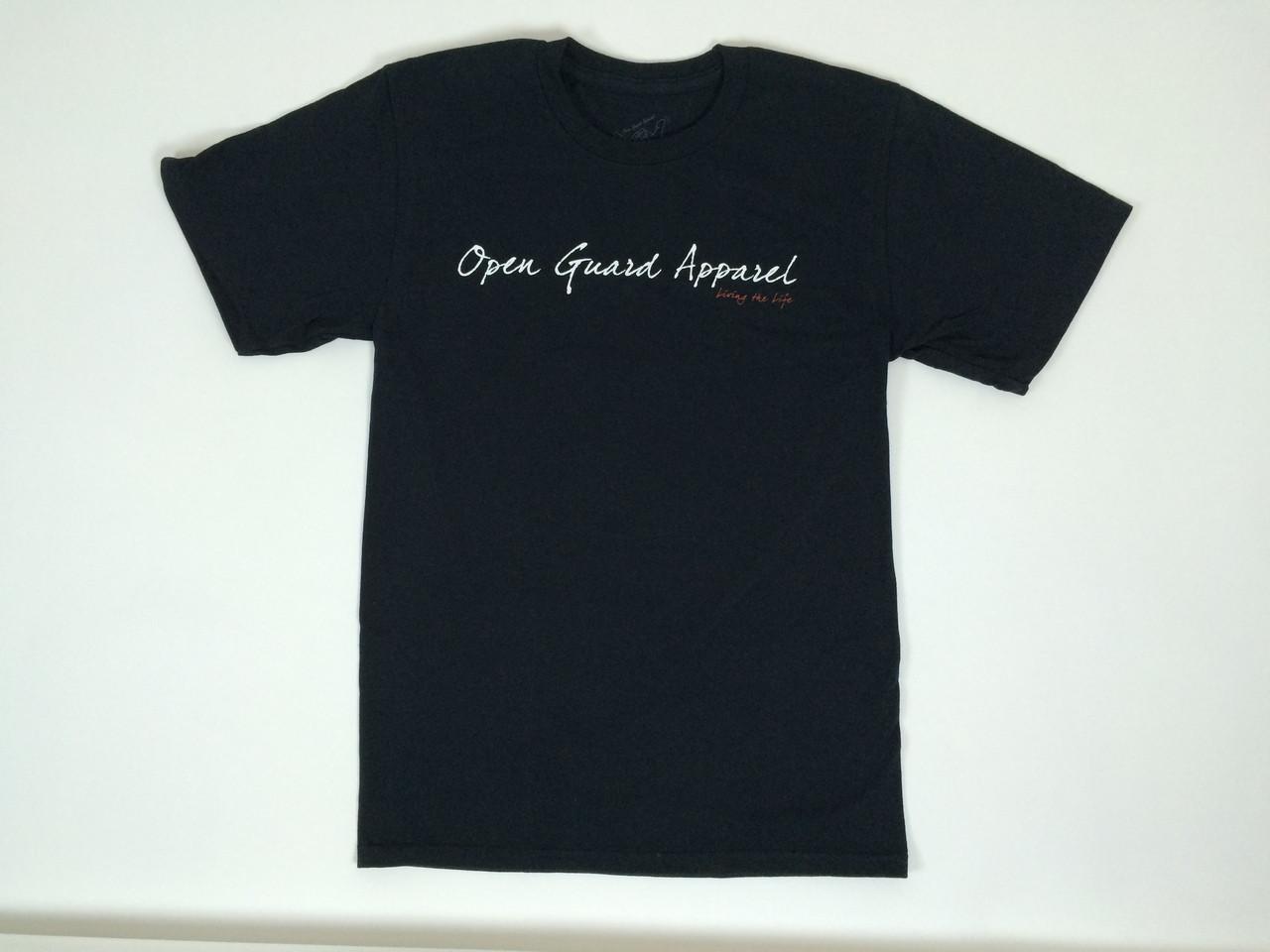 OGA Open Guard Apparel Shaka T-shirt Black front.  @ www.thejiujitsushop.com