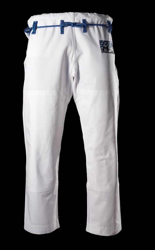 Inverted Gear White Light Pearl Weave Gi - The Jiu Jitsu Shop @ www.thejiujitsushop.com   Gi pants with teal rope and white pants