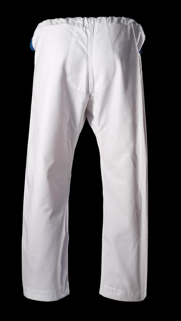 Inverted Gear White Light Pearl Weave Gi - The Jiu Jitsu Shop @ www.thejiujitsushop.com   Back of pants