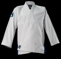 Inverted Gear White Light Pearl Weave Gi - The Jiu Jitsu Shop @ www.thejiujitsushop.com   White light gi with a 350GSM Jacket top white and teal gi