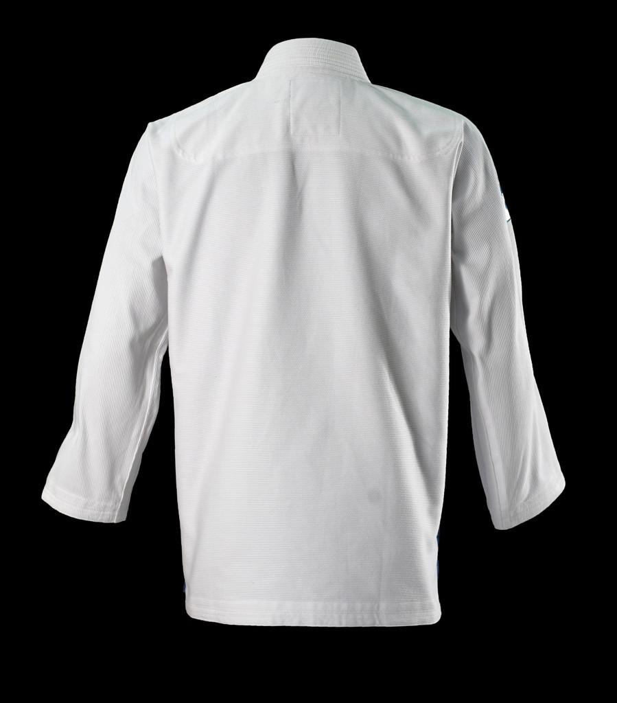 Inverted Gear White Light Pearl Weave Gi - The Jiu Jitsu Shop @ www.thejiujitsushop.com   Back of jacket