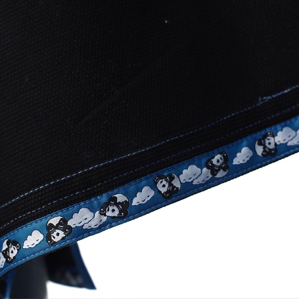 Inverted Gear Black Light Pearl Weave Gi Skies with teal - The Jiu Jitsu Shop @ http://www.thejiujitsushop.com  Trip at the bottom of the jacket