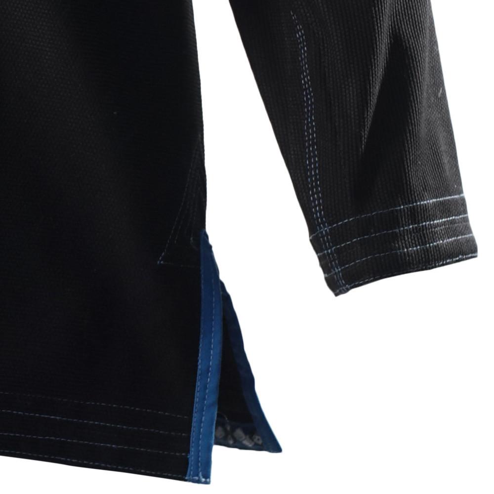 Inverted Gear Black Light Pearl Weave Gi Skies with teal - The Jiu Jitsu Shop @ http://www.thejiujitsushop.com  zoom to y of jacket