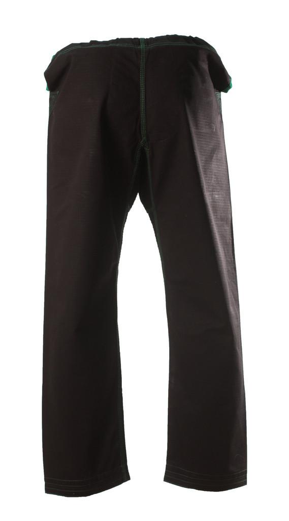 Inverted Gear Black Gold Weave Panda Gi @ The Jiu Jitsu Shop http://www.thejiujitsushop.com your one stop Jiu Jitsu Shop.    Back of pants