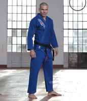 Grips Primero 3.0 Blue gi front of Gi angle at www.thejiujitsushop.com The Jiu Jitsu Shop for all your jiu jitsu needs.