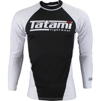 Tatami Fightwear Ranked Rashguard Long sleeve White belt @ www.thejiujitsushop.com