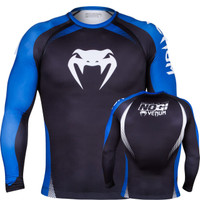 Venum No Gi Ranked Rashguard Blue Belt Long Sleeve Rashguard.  The Jiu Jitsu Shop.  www.thejiujitsushop.com   Enjoy free shipping storewide