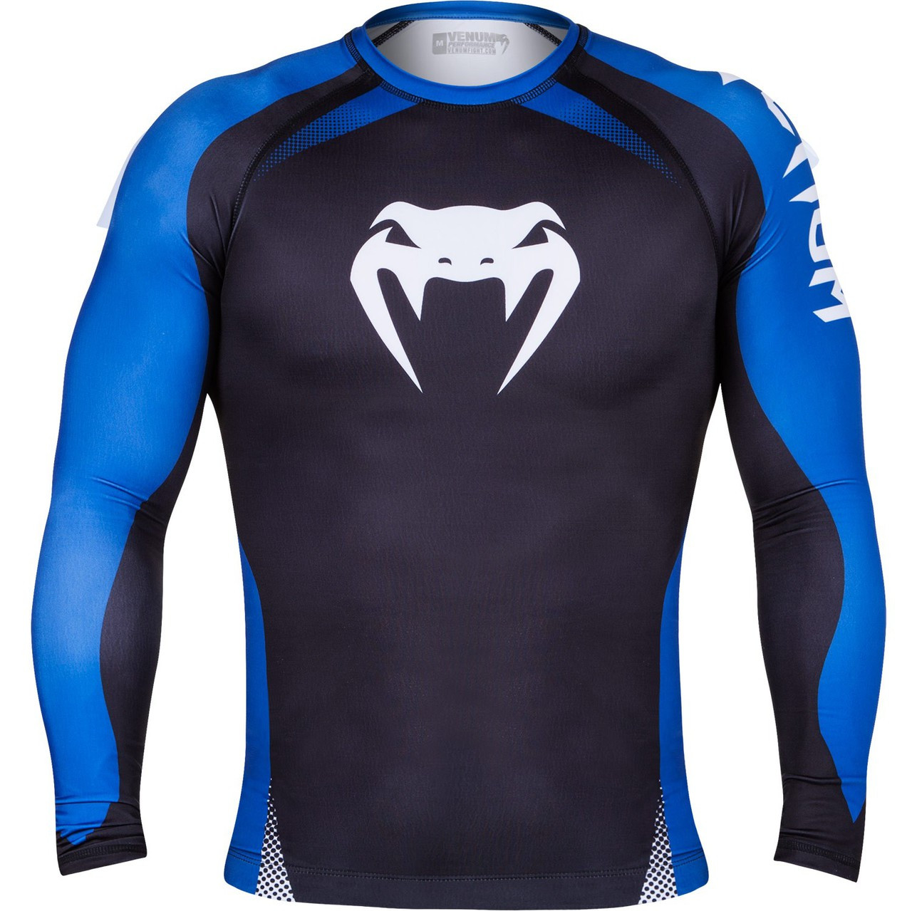 Venum No Gi Ranked Rashguard Long Sleeve Rashguard.  The Jiu Jitsu Shop.  www.thejiujitsushop.com Blue belt rashguard front  Enjoy free shipping storewide