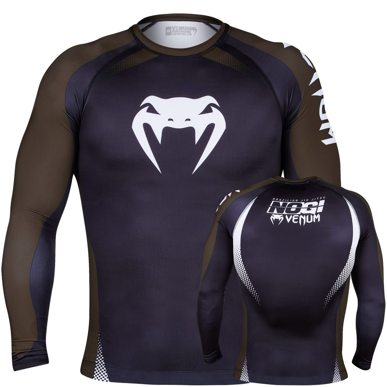 Venum No Gi Ranked Rashguard Brown Belt Long Sleeve Rashguard.  The Jiu Jitsu Shop.  www.thejiujitsushop.com   Enjoy free shipping storewide