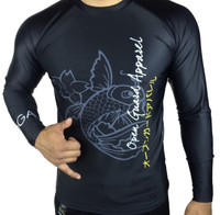 Open Guard Apparel's Kool Koi Long Sleeve Rashguard, sold exclusively by The Jiu Jitsu Shop. Free shipping, storewide.