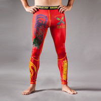 Meerkatsu Fire Rooster Spats Grappling tights now available at www.thejiujitsushop.com.  Depicting a great scene with a chick and rooster.  Roll in style today.   Enjoy complimentary shipping from The Jiu Jitsu Shop