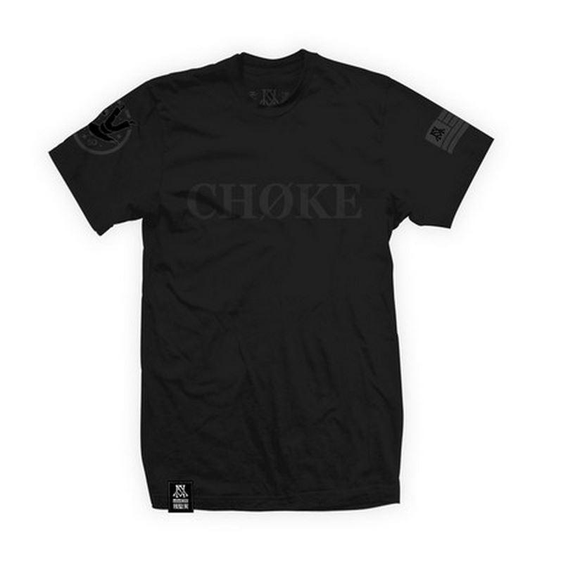 Newaza Apparel's Choke Tshirt, featured on www.thejiujitsushop.com. Grab this slate tshirt today, and get free domestic shipping.