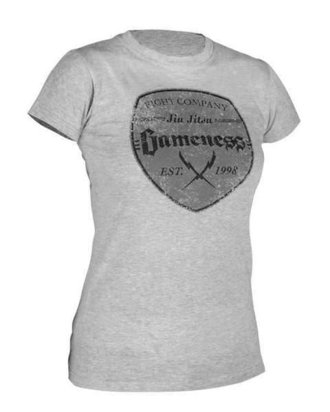 Gameness Ladies Shield Tshirt now available at www.thejiujitsushop.com   Enjoy Free Shipping from The Jiu Jitsu Shop Today!