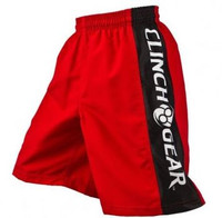 Clinch Gear's Performance Shorts for Kids. Featured in red, pewter, and black on www.thejiujitsushop.com.   Free domestic shipping across the entire store.