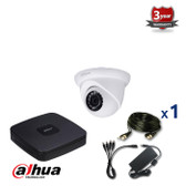 1 INDOOR/OUTDOOR 2.4 MEGAPIXELS DAHUA HD-CVI CAMERA CCTV KIT, IR NIGHT VISION UP TO 30 METERS, HD-CVI2220M1, EU plug