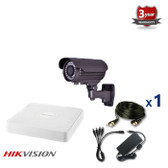 1 INDOOR/OUTDOOR ANALOG CAMERA CCTV KIT, 1000TVL, IR NIGHT VISION UP TO 40 METERS 1CKAIPO100C