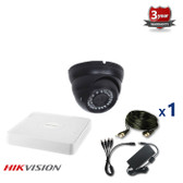 1 INDOOR/OUTDOOR DOME ANALOG CAMERA CCTV KIT, 1000TVL, IR NIGHT VISION UP TO 40 METERS 1CKADIC100C