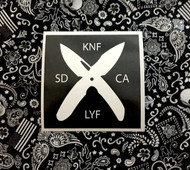 X Knife Life Sticker