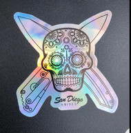 Metallic Sugar Skull Sticker