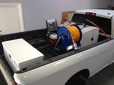 100 gallon sprayer fit in truck8ft2