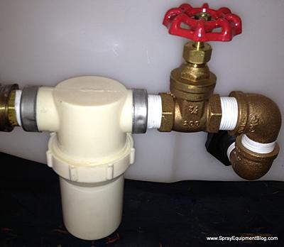 power sprayer valve