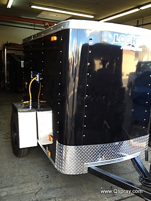 pest control spray trailer enclosed