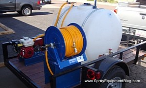 pest control spray trailer single axle