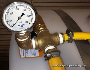 pressure gauge on gas powered sprayer