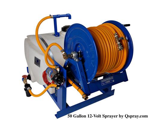 50 gallon 12-volt pest control spray rig