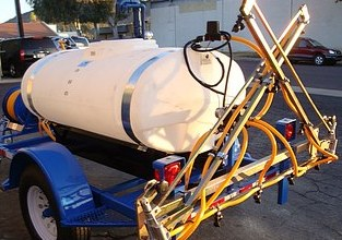Weed Spray Trailer with Folding boom