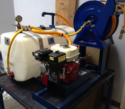 50 Gallon Gas Powered Skid Sprayer with Roller Pump