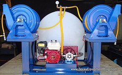 225 Gallon Skid Sprayer with dual Cox Hose Reels
